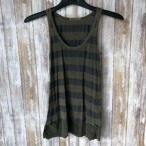 Stateside striped scoop neck tank top